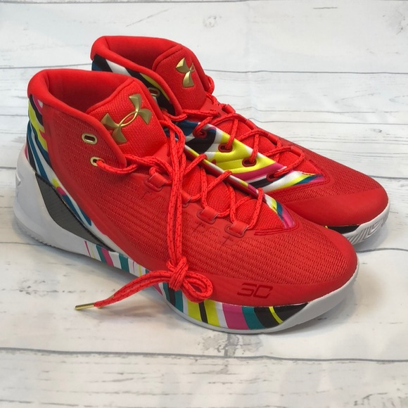 8d8eb2285dc Under Armour Steph Curry 3 11.5 Chinese New Year